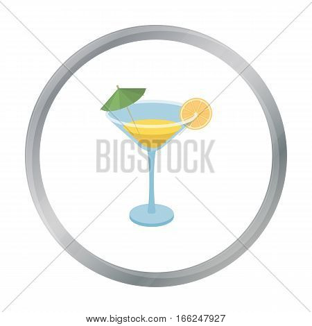 Lemon cocktail icon in cartoon design isolated on white background. Brazil country symbol stock vector illustration. - stock vector