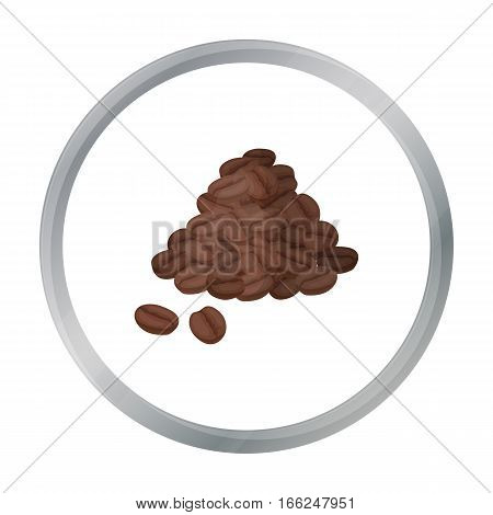 Brazilian coffee icon in cartoon design isolated on white background. Brazil country symbol stock vector illustration. - stock vector
