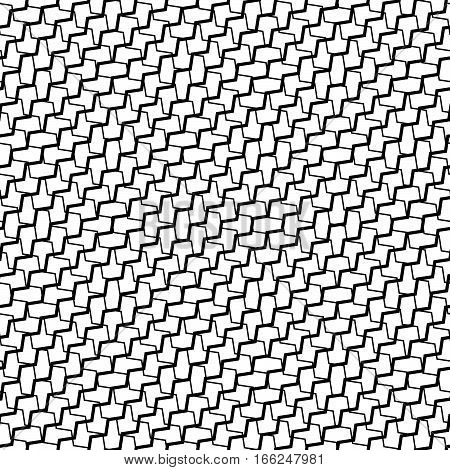 Mesh, Grid With Intersecting Deformed, Distorted Lines. Seamlessly Repeatable Grid, Mesh Pattern