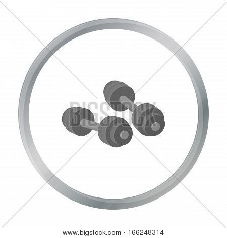 Dumbbells icon in cartoon style isolated on white background. Boxing symbol vector illustration. - stock vector