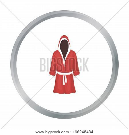 Boxing robe icon in cartoon style isolated on white background. Boxing symbol vector illustration. - stock vector