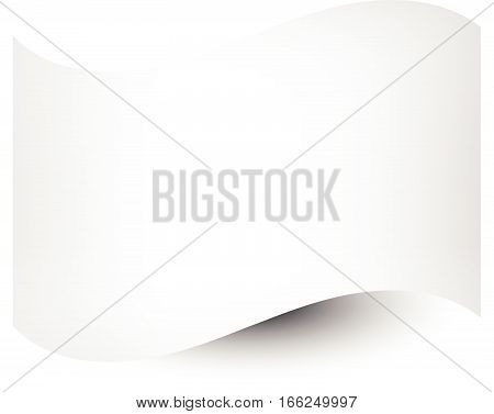 White Shaded Flag Template On White. Waving Empty Rectangle, Flag Shape (use It To Distort Your Own