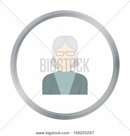 Grandmother icon cartoon. Single avatar, peaople icon from the big avatar cartoon. - stock vector