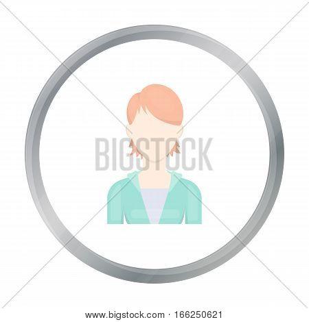 Woman icon cartoon. Single avatar, peaople icon from the big avatar cartoon. - stock vector
