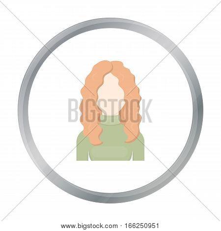 Redhead icon cartoon. Single avatar, peaople icon from the big avatar cartoon. - stock vector