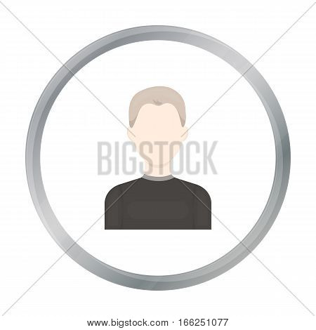 Boy icon cartoon. Single avatar, peaople icon from the big avatar monochro - stock vector