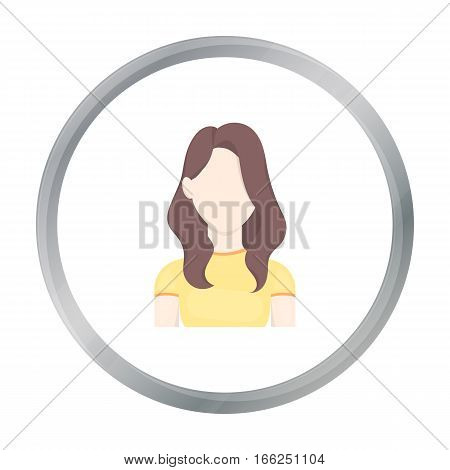 Girl icon cartoon. Single avatar, peaople icon from the big avatar cartoon. - stock vector