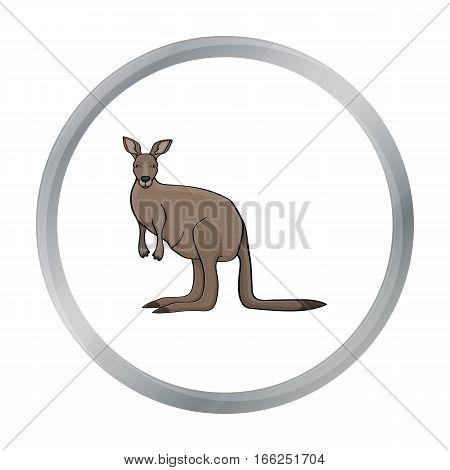 Kangaroo icon in cartoon design isolated on white background. Australia symbol stock vector illustration. - stock vector