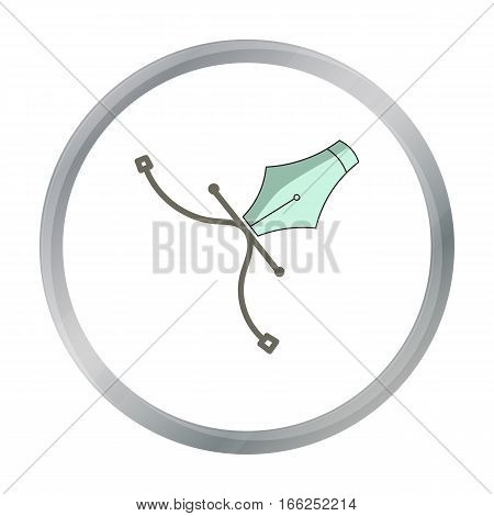 Pen tool icon in cartoon style isolated on white background. Artist and drawing symbol vector illustration. - stock vector