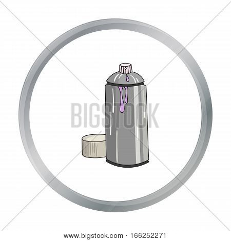 Spray paint can icon in cartoon style isolated on white background. Artist and drawing symbol vector illustration. - stock vector