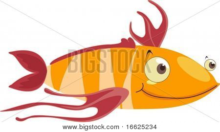 Fish with stringy fins