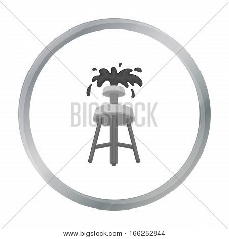 Oil rig icon in cartoon style isolated on white background. Arab Emirates symbol vector illustration. - stock vector
