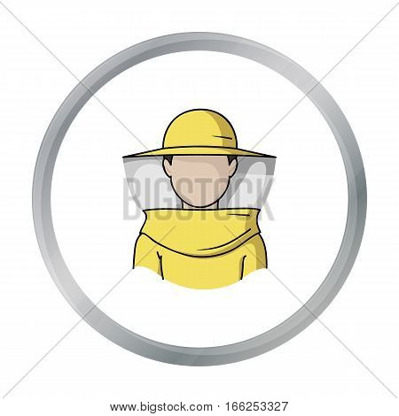 Beekeeper icon in cartoon style isolated on white background. Apiary symbol vector illustration - stock vector