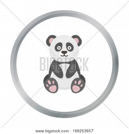 Panda icon cartoon. Singe animal icon from the big animals cartoon. - stock vector