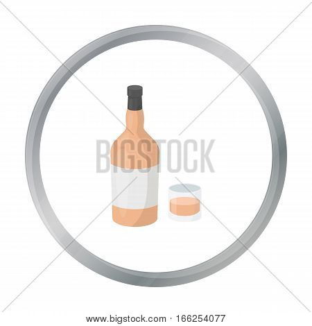 Rum icon in cartoon style isolated on white background. Alcohol symbol vector illustration. - stock vector