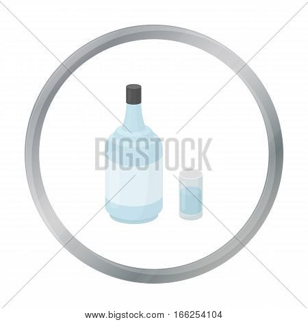 Gin icon in cartoon style isolated on white background. Alcohol symbol vector illustration. - stock vector