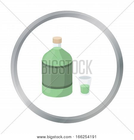 Absinthe icon in cartoon style isolated on white background. Alcohol symbol vector illustration. - stock vector