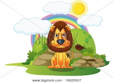 lion and rainbow (vector available in portfolio)