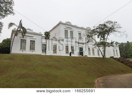 Facade Of Vital Brazil Building In Butantan Institute