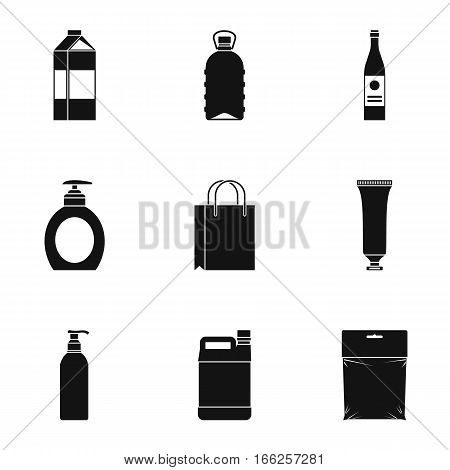 Packaging icons set. Simple illustration of 9 packaging vector icons for web