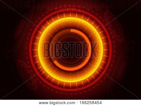Abstract digital technology color background or futuristic interface.