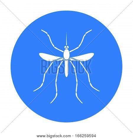 Mosquito icon in blue design isolated on white background. Insects symbol stock vector illustration.
