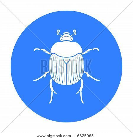 Dor-beetle icon in blue design isolated on white background. Insects symbol stock vector illustration.