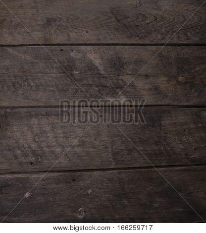 Dark Rustic Wooden Horzisontal Plank Board Background