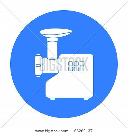 Electical meat grinder icon isolated on white background. Household appliance symbol vector illustration.
