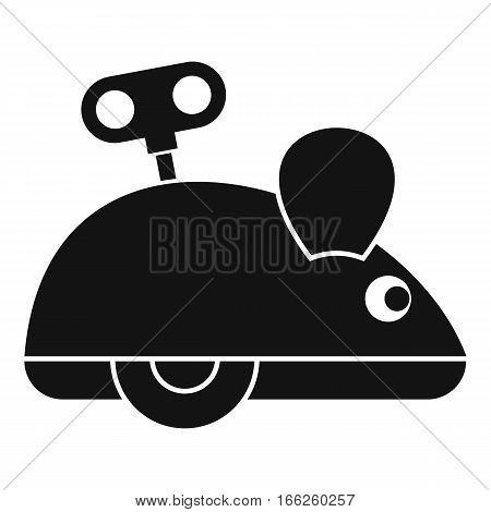 Clockwork mouse icon. Simple illustration of clockwork mouse vector icon for web design