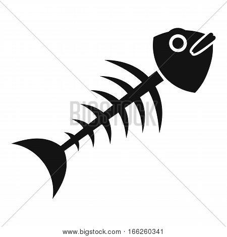 Fish bone icon. Simple illustration of fish bone vector icon for web design