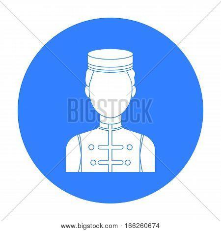 Bellboy icon isolated on white background. Hotel symbol vector illustration.