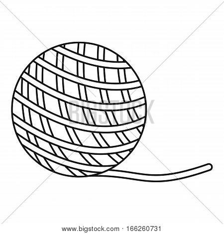 Yarn ball toy for cat icon. Outline illustration of yarn ball toy for cat vector icon for web design