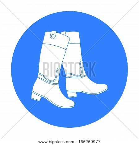 Jockey's high boots icon  isolated on white background. Hippodrome and horse symbol stock vector illustration.