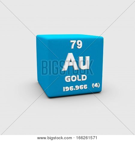 Gold's atomic number of 79 makes it one of the higher atomic number elements that occur naturally in the universe.