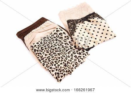 Stylish panties isolated on a white background.