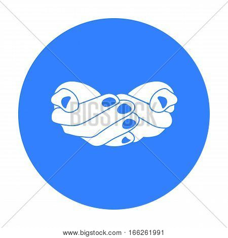 Ask for alms icon isolated on white background. Hand gestures symbol vector illustration.