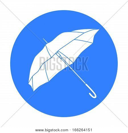 Parasol icon in blue style isolated on white background. vector illustration.