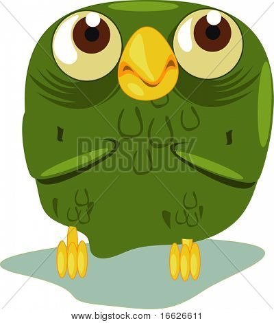 cute owl  (vector illustration also available in portfolio)