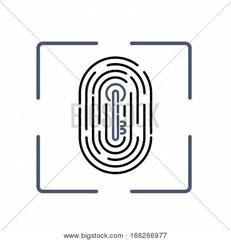 Fingerprint With Key Pattern Inside