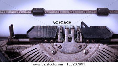 Old Typewriter - Grenada