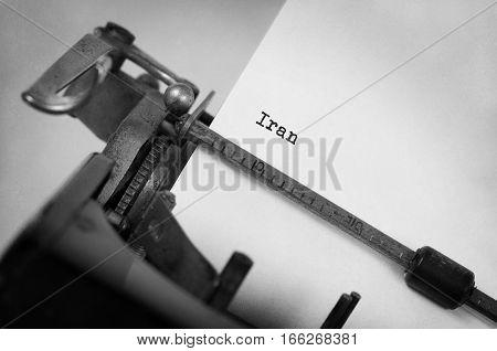 Old Typewriter - Iran