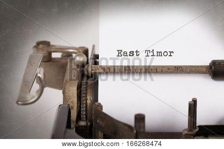 Old Typewriter - East Timor