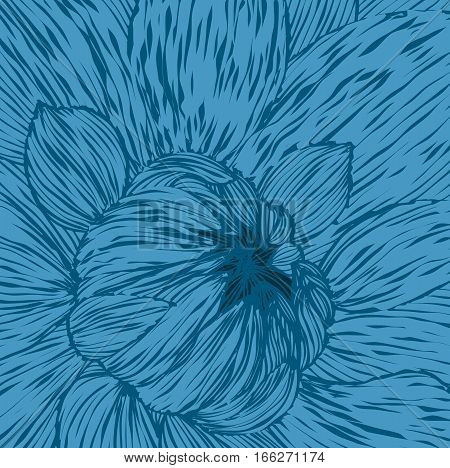 Abstract pattern unopened flower Vector art backdrop
