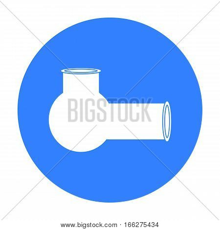 Hashish pipe icon in blue style isolated on white background. Drugs symbol vector illustration.