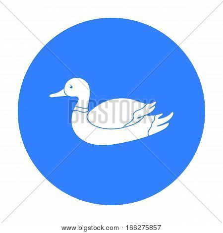 Duck icon in blue style isolated on white background. Hunting symbol vector illustration.