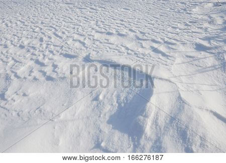 Snow Textured Background. Snow Background after strong wind