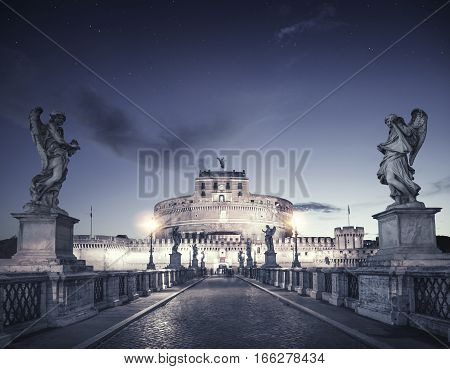 Castel Sant'Angelo (Castle of Holy Angel) Rome Italy