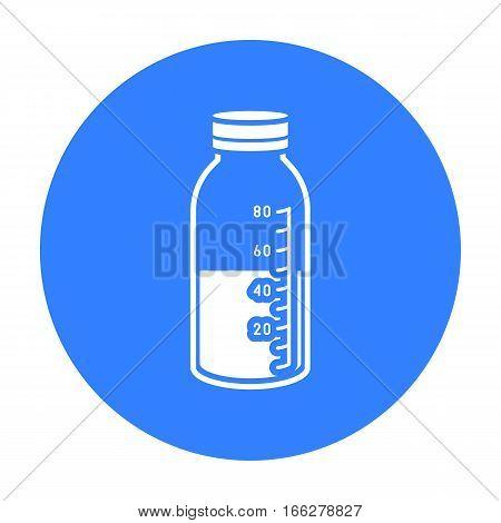 Mixture icon blue. Single medicine icon