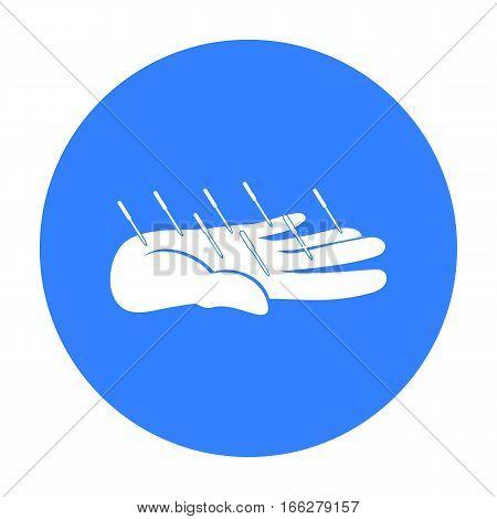 Acupuncture icon blue. Single medicine icon